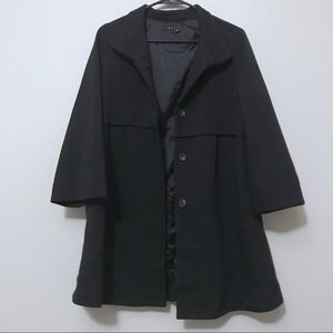 Theory Loris Craze Jacket Heavy Coat Black Long
